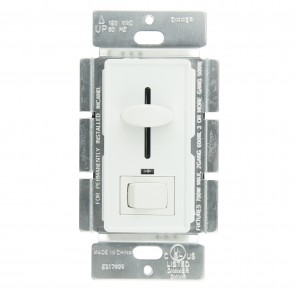 Sunlite 55155 E1030/W  Slide Dimmer with LED/On/Off Switch, White