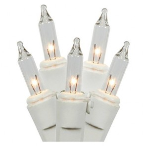 Clear Christmas Lights, White Wire (50 Count) [Tools & Home Improvement]