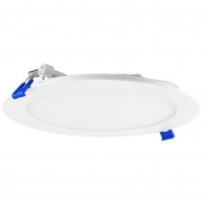 Sunlite 87704 LFX/SDL/SCT/8R/18W 8-Inch Round Ultra Slim Recessed Downlight with Junction Box, 1100 Lumen, Tunable 3000K/4000K/5000K, White Finish