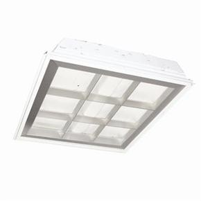 Sunlite 90019 2X2 Recessed Lay-In, 9 Cell Aluminum Parabolic Louver