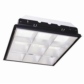 Sunlite 90188 2X2 Recessed Deep Lay-In, 9 Cell Aluminum Parabolic Louver