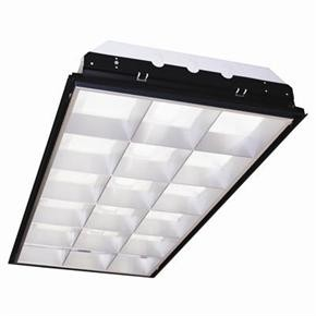 Sunlite 90207 2X4 Recessed Deep Lay-In, 18 Cell Aluminum Parabolic Louver