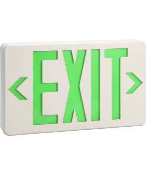 """GreenBeam EX621G 6"""" Steel LED Exit Sign Green Latters"""