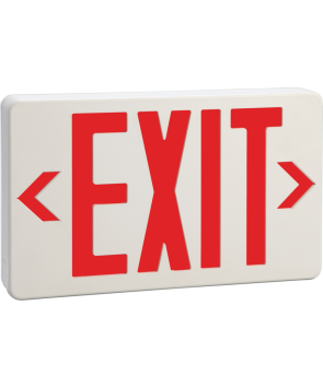"""GreenBeam EX621R 6"""" Steel LED Exit Sign Red Latters"""