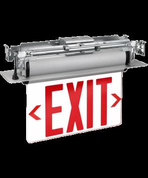 "GreenBeam EX623UR 6"" LED Edge Lit Universal Exit Sign Red Latters"
