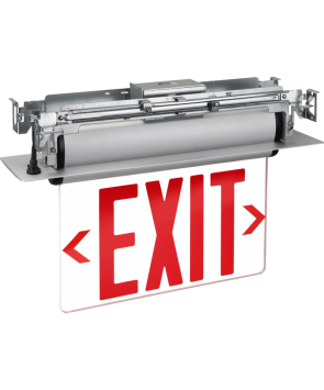 GreenBeam NYEXS603C/U LED Edge Lit Universal Exit Sign Red Latters NYC Approved