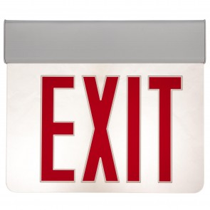 Sunlite 04317 Surface Mount Edge-Lit Exit Light, White Housing, Single Faced Clear Plate, NYC Approved, Universal Mounting Plate Included