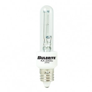 Bulbrite 473160 KX60CL/MC 60 Watt KX-2000 Dimmable Krypton/Xenon T3 Capsule Bulb, Mini-Candelabra Base, Clear