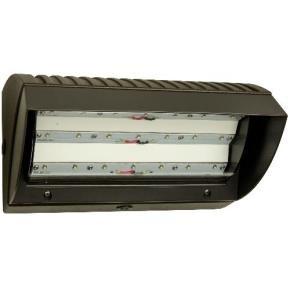 Sunlite 97037 70 Watt 120-277 Volt LED Wall Packs Fixture, Bronze Finish, Polycarbonate Lens, Dimmable