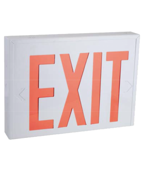 """GreenBeam NYEX601W  8"""" Steel LED Exit Sign Red Latters NY Approved"""