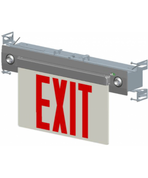 """GreenBeam NYEX607 8"""" Steel LED Exit Combo Red NY approved Wall Mount And Side Mount And Surface Mount"""