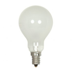 Satco S4165  40 watt A15 Incandescent Frost 1000 average rated hours 420 lumens Intermediate base 130 volts
