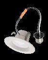Goodlite 83447 R4/10W/R/LED/50k LED Retrofit 4-Inch Round Downlight, Dimmble, Medium E26 Base, 5000K Super White