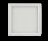 "Luxrite 23609 LED10/SLIM4/30K/W/SQ 10W Dimmable 4"" Square Slim Panel SOFT WHITE 3000K"