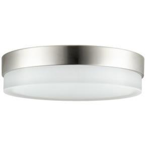 Sunlite 49094 LFX/R/GL/20W/BN/30K  LED 20 Watt Decorative Half Band & Half Glass Ceiling Light, 3000K Warm White