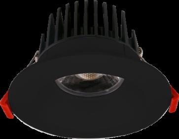 "Goodlite 20103 & G-20193 M4/15W/LED/41K LED 4"" Regress Luminaire, High Output, 1100 Lumens, Dimmble, 4100K Cool White, With Round Black Trim"