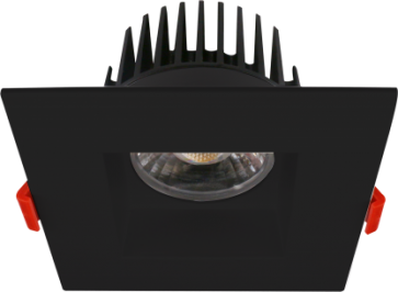 "Goodlite 20103 & G-20194 M4/15W/LED/41K LED 4"" Regress Luminaire, High Output, 1100 Lumens, Dimmble, 4100K Cool White, With Square Black Trim"