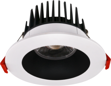 """Goodlite 20103 & G-20108 M4/15W/LED/41K LED 4"""" Regress Luminaire, High Output, 1100 Lumens, Dimmble, 4100K Cool White, With Round Two Tone Trim"""