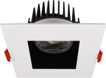 """Goodlite 20103 & G-20109 M4/15W/LED/41K LED 4"""" Regress Luminaire, High Output, 1100 Lumens, Dimmble, 4100K Cool White, With Square Two Tone Trim"""