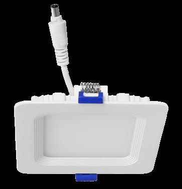 "Luxrite 23703 LED/MINI4/PANEL/30K/SQ 10W Dimmable 4"" Mini Square Panel SOFT WHITE 3000K"