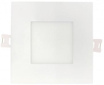 Luxrite 23759 LED/MINI4/PANEL/5CCT/SQ2 10 Watt LED Recessed Panel Round Back Mini Square Light,CCT Select 2700K,3000K,3500K,4000K,5000K