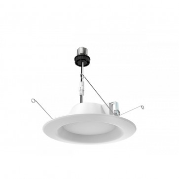 Satco S29314,9.8WLED/RDL/5-6/40K/120V,9.8 Watts,120V Voltage,White Finish,Recessed Retrofit Downlight-LED Light,4000K Cool White