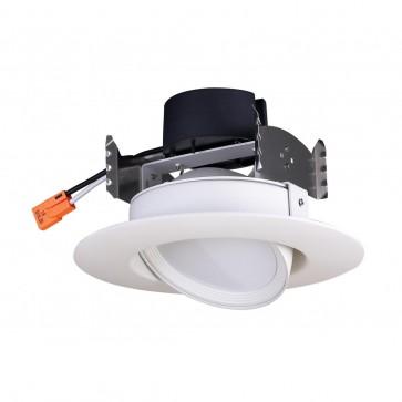 Satco S29467,9.5WLED/DIR/4/90'/30K/120V, ,120V Voltage,White Finish,-LED Recessed Directional Retrofit Downlight,3000K Warm White