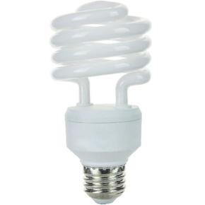 SUNLITE 00621 SMS23/50K 23 Watt Super Mini Spiral  Medium (E26) Base, Super White