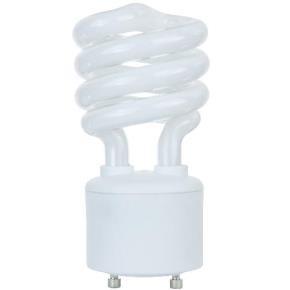 Sunlite 00791 SL18/GU24/50K 18 Watt GU24 Sprial Energy Saving Light Bulb, GU24 Base, Super White