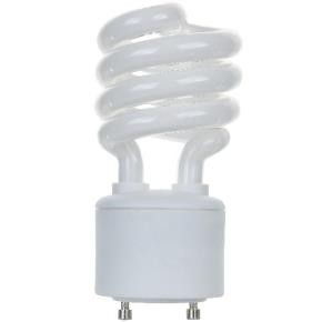Sunlite 00792 SL18/GU24/41K 18 Watt GU24 Sprial Energy Saving Light Bulb, GU24 Base, Cool White