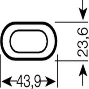 Osram 010755 FT24DL/840  24 Watt Compact Fluorescent Plug In, 4-Pin (2G11) Base, Cool White 4000K, Light Bulb