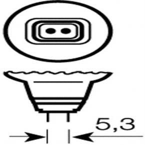 Osram 012636  50MR16/10/NSP 50 Watt MR16 Narrow Spot Halogen, 10 Degree, Bi-Pin (GU5.3) Base