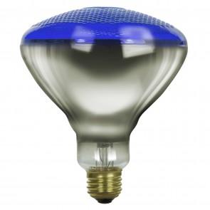 Sunlite 01868 100BR38/FL/B 100 Watt BR38 Colored Reflector Light Bulb, Medium (E26) Base, Prismatic Blue