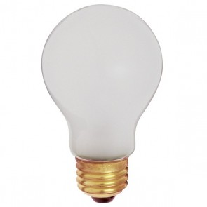 Satco S3929 100 watt A19 Incandescent Frost 5000 average rated hours 960 lumens Medium base 130 volts Shatter Proof 2/Pack