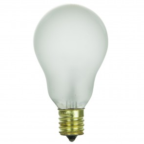 Sunlite 02051 40A15/FR/N/CD2 40 Watt A15 Appliance Light Bulb, Intermediate Base, Frost, 2 Pack