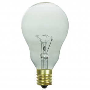 Sunlite 02091  60 Watt A15 Appliance Light Bulb, Intermediate Base, Clear, 2 Pack