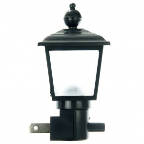 Sunlite 04025 E154 Black/Clear Lamp Post Decorative Night Light