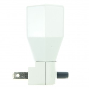 Sunlite 04030 E142 White Polygonal Basic Night Light