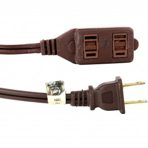 Sunlite 04105 EX9/BR  Houshold Extension Cord 9-Feet Brown