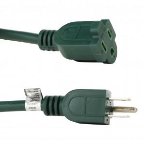 Sunlite 04201 EX40/HD/16/G  Outdoor Heavy Duty Extension Cord 40-Feet, Green Wire