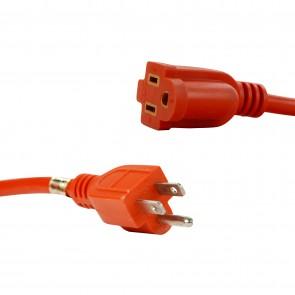 Sunlite 04220 EX50/16/3/HD/O  Outdoor Heavy Duty Extension Cord 50-Feet, Orange Wire