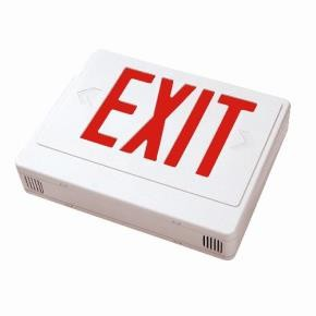 Sunlite 04311 EXIT/SU/1-2F/R/W Surface Mount Exit Light, White Plastic Housing, Single Faced White Plate, Red Letters