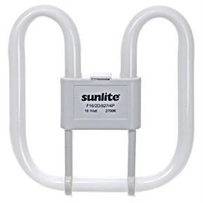 Sunlite 05725 F16/2D/835/4P 16 Watt 2D Lamp, GR10Q Base, Neutral White