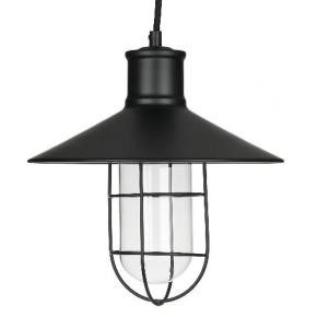"Sunlite 07005 AQF/PD/CN10/CG/OB 10"" Canopy Oil Rubbed Bronze Black Cage Antique Style Pendant Fixture"