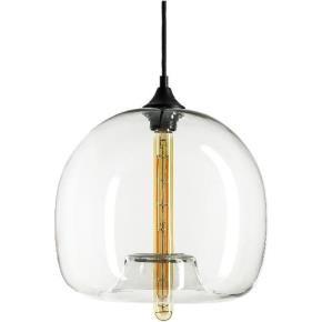 Sunlite 07048 AQF/CG/PD/EL  Glass Sphere Collection Pendant Vintage Antique Style Fixture, Clear Glass
