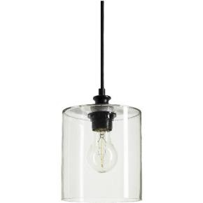Sunlite 07058 AQF/CG/PD/CYL  Cylinder Glass Collection Pendant Vintage Antique Style Fixture, Clear Glass