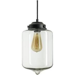 Sunlite 07074 AQF/CG/PD/VCYL  Oil Lamp Glass Collection Pendant Vintage Antique Style Fixture, Clear Glass