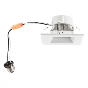 "Luxrite 23001 LED/DL4/4000K/FL/ES/SQ 4"" Square Retrofit Smooth 4000K Cool White"