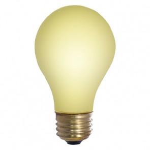Bulbrite 103025 25A/YB 25 Watt Incandescent A19 Outdoor Bug Light, Medium Base, Yellow
