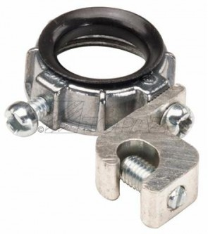 """Topaz 335 1-1/2"""" Grounding Lug Wire Size Min 14Max 4  With Aluminum Lay-In Lug - Zinc Die Cast  Insulated Metallic Grounding Bushings"""